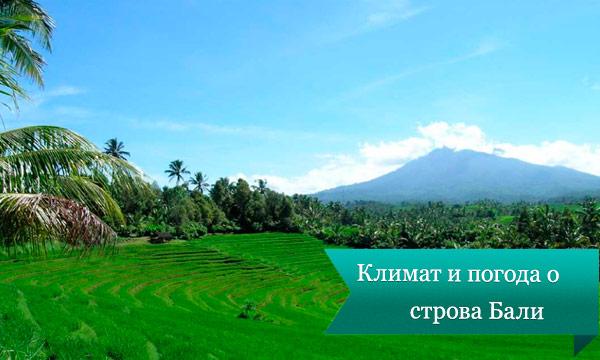 klimat bali Климат и погода острова Бали